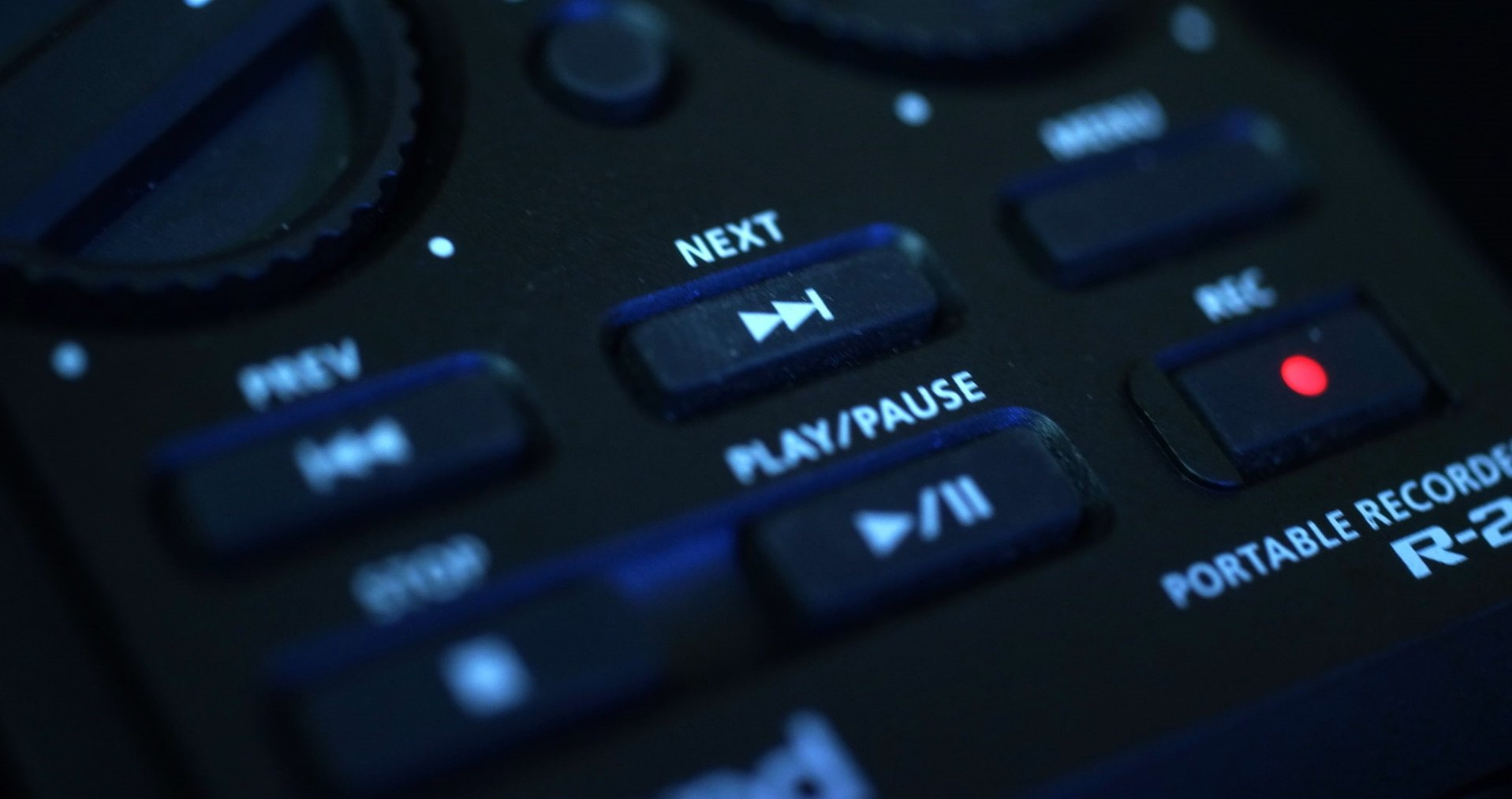 video recorder buttons